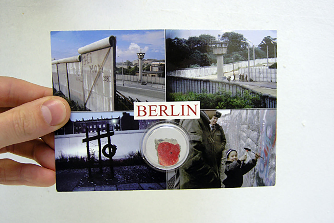 Preservation of the Berlin Wall [postcard front] (2007), Studio view, 2007 (photo: Maarten Vanden Eynde)