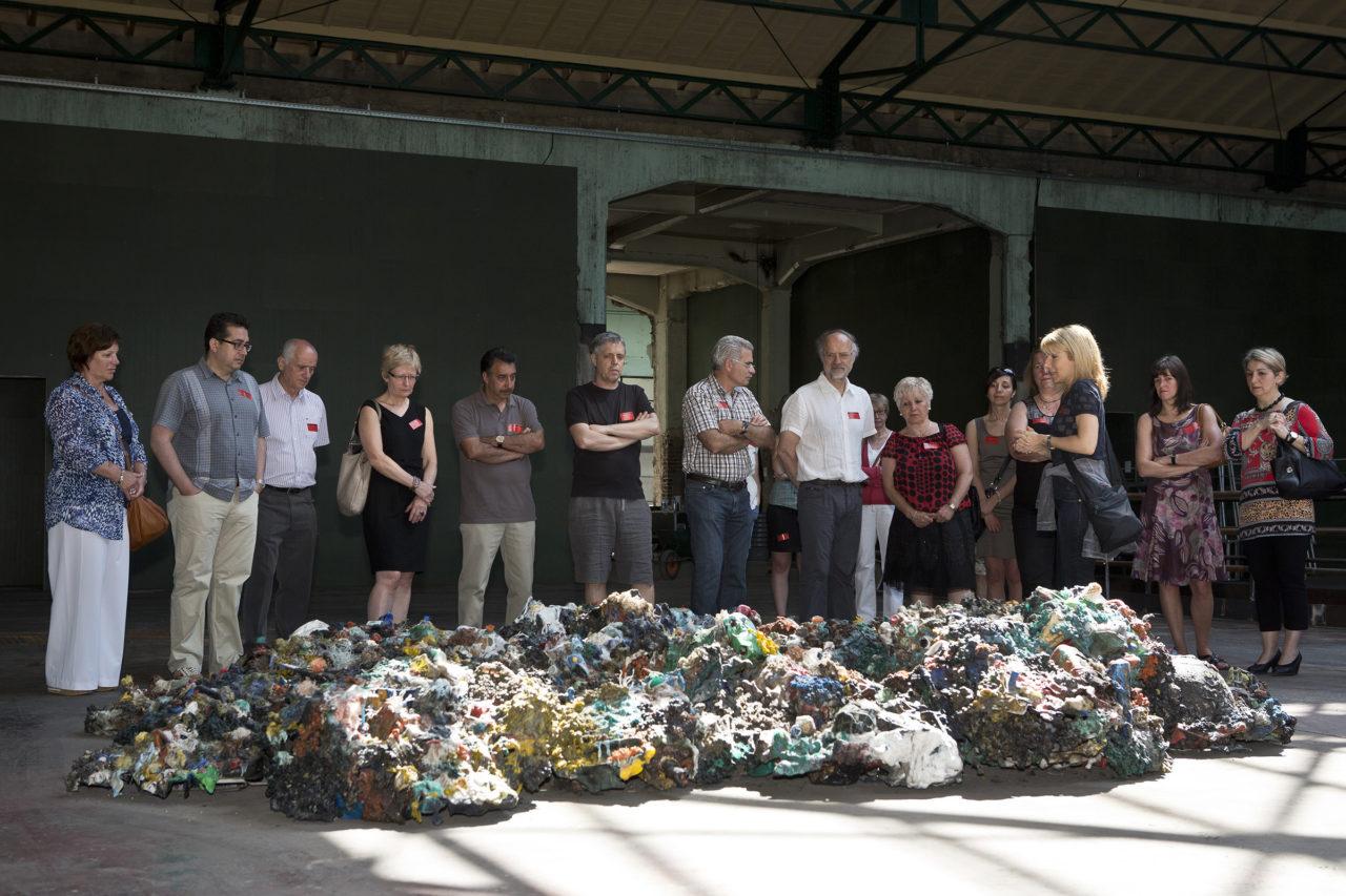 Plastic Reef (2008 - 2012), Manifesta9 [guided tour by Katharina Gregos], Genk, Belgium, 2012 (photo: Kristof Vrancken)