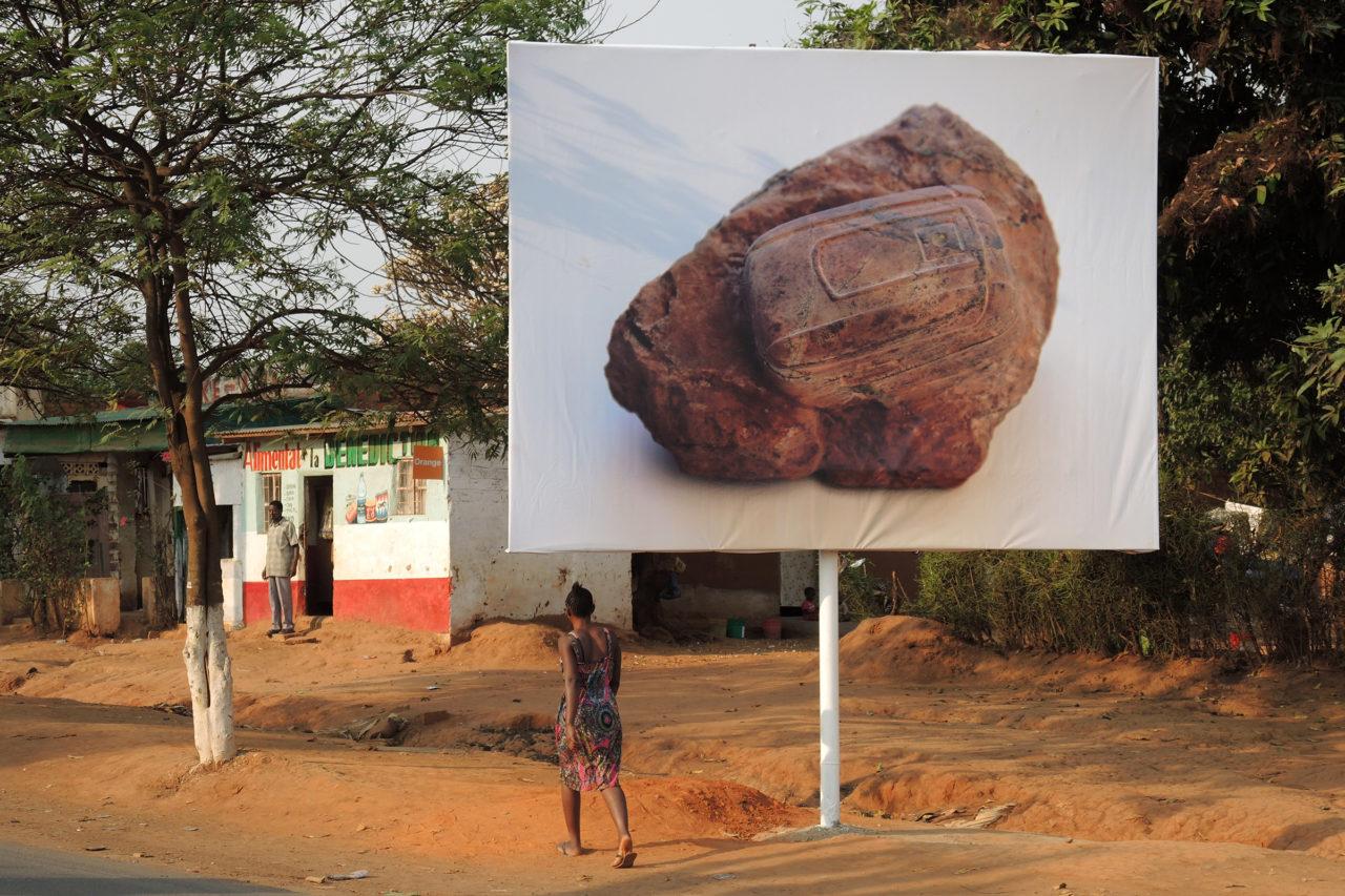 Technofossil [billboard] (2015), #4 Biennale de Lubumbashi, D.R. Congo, 2015 (photo: Maarten Vanden Eynde)