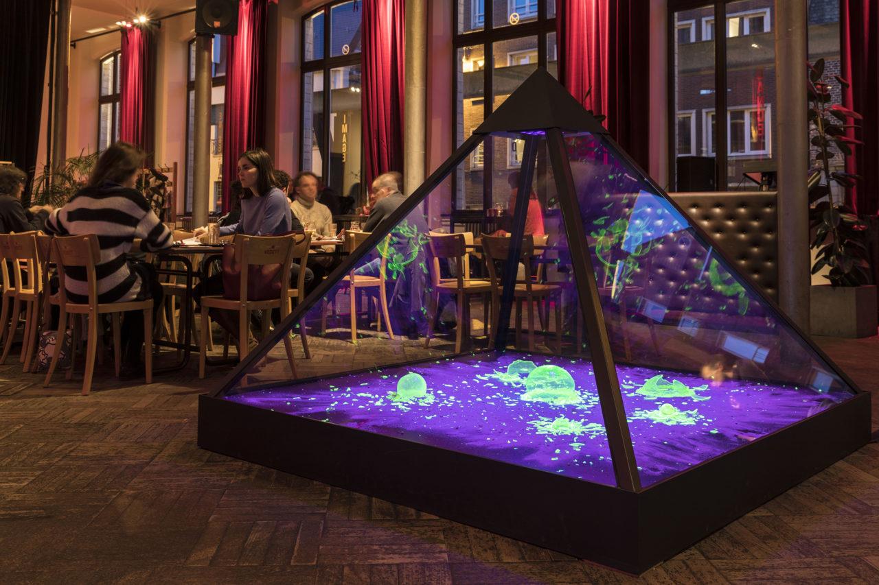 Manhattan Project (2017), Artefact, STUK café, Leuven, Belgium, 2018 (photo: Kristof Vrancken)