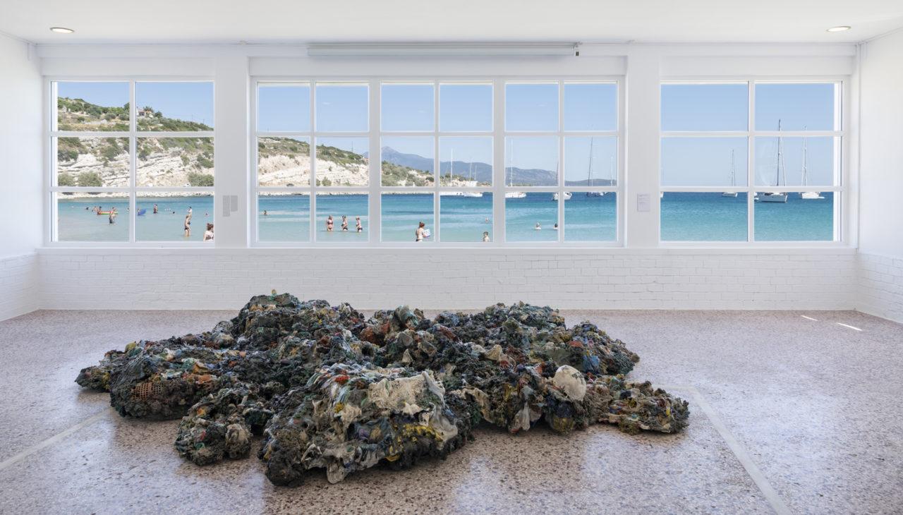 Plastic Reef (2008 - 2012), Schwarz Foundation, Art Space Pythagorion, Samos Island, Greece, 2019 (photo: Panos Kokkinias)