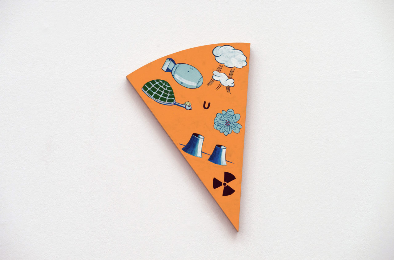 Uranium, detail of 'Ils ont partagé le monde' [in collaboration with Musasa] (2017), Belgian Art Prize, Bozar, Brussels, Belgium, 2017 (photo: Philippe de Gobert)