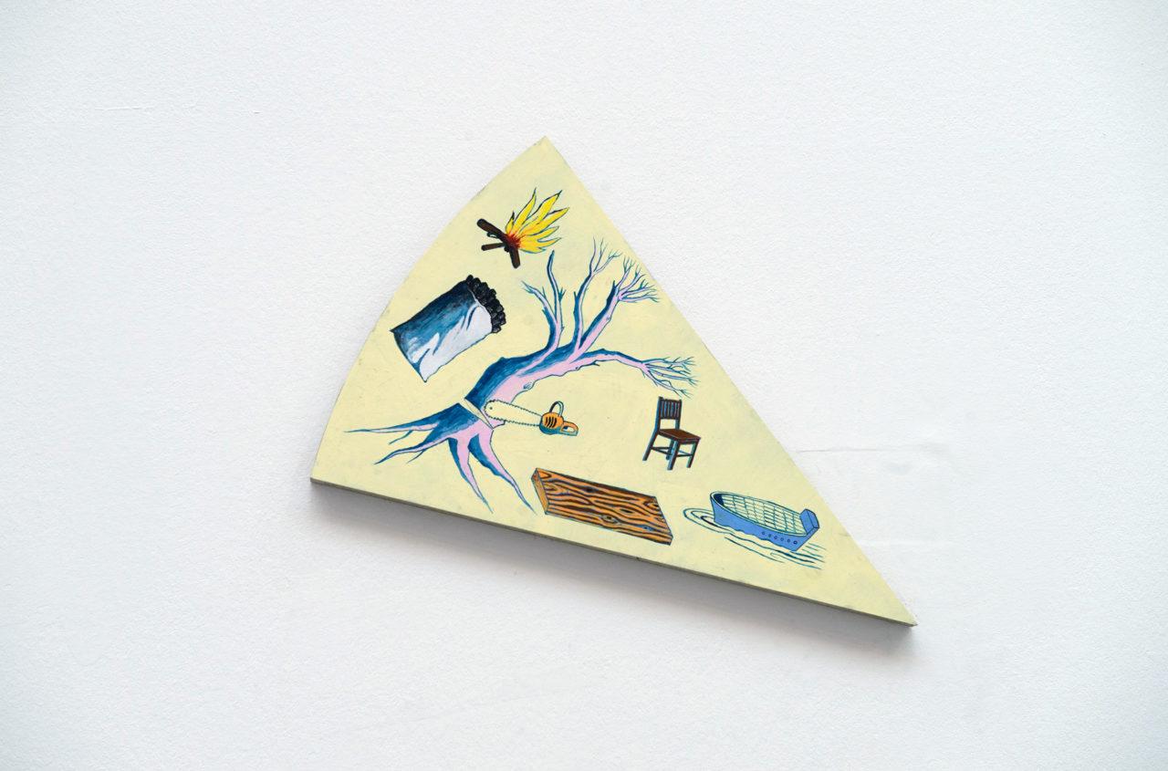 Wood, detail of 'Ils ont partagé le monde' [in collaboration with Musasa] (2017), Belgian Art Prize, Bozar, Brussels, Belgium, 2017 (photo: Philippe de Gobert)